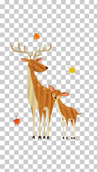 Formosan Sika Deer Watercolor Painting Drawing PNG