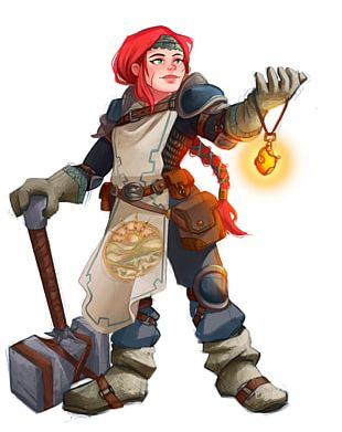 Dungeons & Dragons Tactics Dwarf Cleric Character PNG