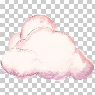 Cloud Iridescence Watercolor Painting Computer File PNG