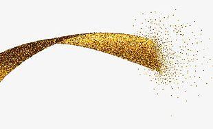 Gold Ribbon Decoration PNG