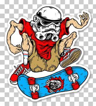 Sticker Skateboarding Decal Label PNG