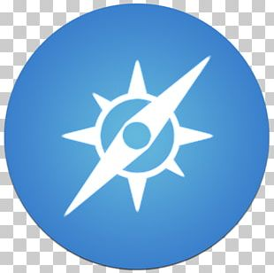 Electric Blue Star Symbol Sky PNG