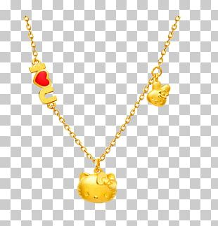 Necklace Hello Kitty Chow Tai Fook Gold Jewellery PNG