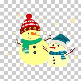 Snowman Christmas Banner PNG