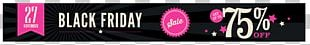Black Friday Web Banner Cyber Monday Sales PNG