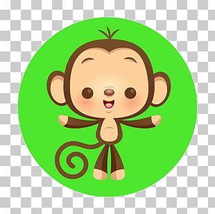 Chimpanzee Monkey Cartoon Cuteness Illustration PNG