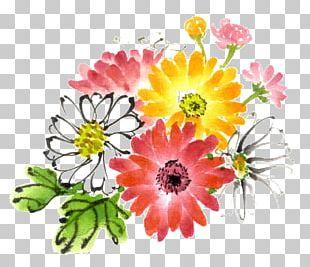 Ink Wash Painting Watercolor Painting Chrysanthemum PNG