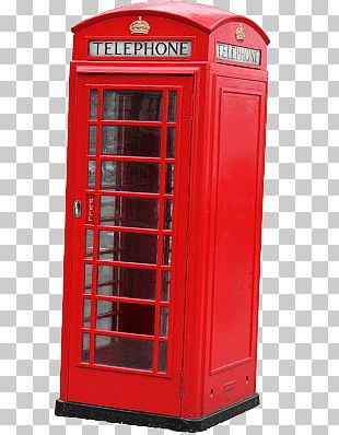 Red London Phone Booth PNG