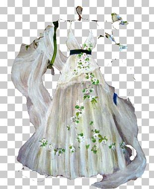 Wedding Dress Clothing Party Dress Drawing PNG