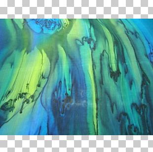 Modern Art Watercolor Painting Blue PNG