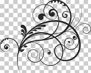 Spiral Floral Design PNG