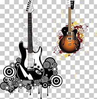 Electric Guitar Poster Vintage Guitar PNG