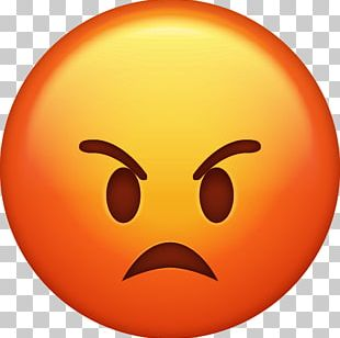 Emoji Anger Emoticon IPhone PNG