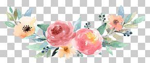 Floral Design Watercolor Painting Paper Rabbit PNG