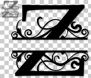 Letter Alphabet Monogram Initial Decal PNG