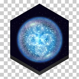 Sphere Electric Blue Space Circle Earth PNG