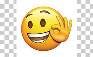 Emoji OK Emoticon Smiley Sticker PNG