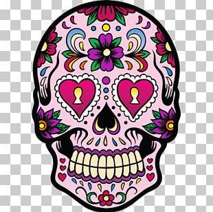 La Calavera Catrina Sticker Day Of The Dead Decal PNG