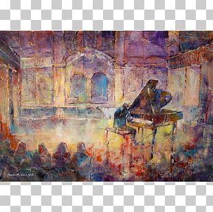 Watercolor Painting Recital Piano Pianist PNG