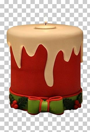 Christmas Cake Birthday Cake Mousse Candle PNG