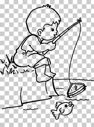 Colouring Pages Coloring Book Fisherman Drawing PNG