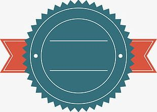 Simple Round Ribbon Promotional Label Border PNG