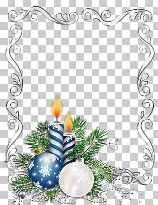 Borders And Frames Christmas Ornament Candle PNG