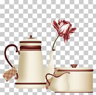Teapot Coffee Cup Mug Drawing PNG