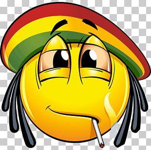 Cannabis Smoking Joint Emoji PNG