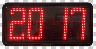Electronic Signage Digital Clock Display Device Electronics PNG
