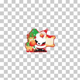 Santa Claus Christmas Card Banner PNG