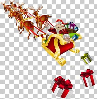 Santa Claus Sled Stock Photography Christmas PNG
