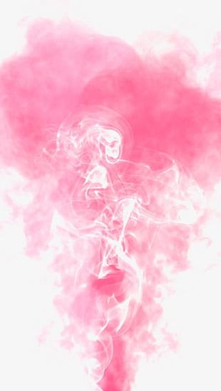Pink Smoke Decoration PNG