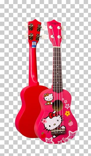 Ukulele Electric Guitar Musical Instrument Hello Kitty PNG