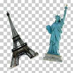 Statue Of Liberty Eiffel Tower PNG
