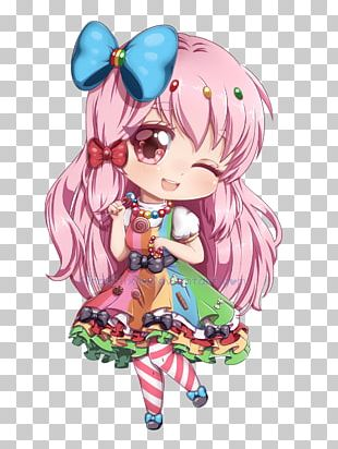 Chibi Drawing Anime Mangaka PNG