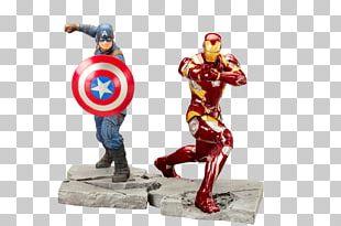 Iron Man Civil War Captain America ArtFX+ 1/10 Scale Figure Civil War Captain America ArtFX+ 1/10 Scale Figure Model Figure PNG