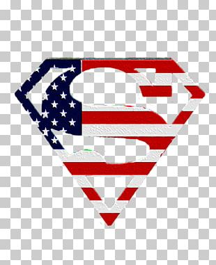 Superman Logo Flag Of The United States T-shirt PNG
