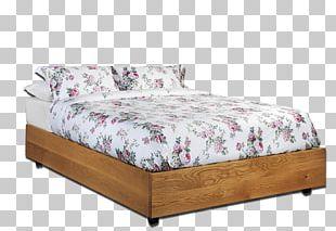 Bed Frame Wood Platform Bed Mattress PNG