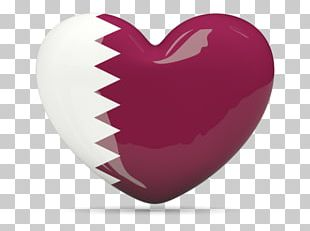 Flag Of Qatar Heart PNG