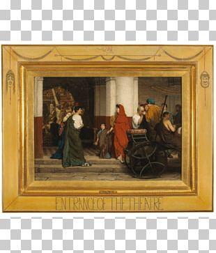 Fries Museum Lawrence Alma-Tadema: At Home In Antiquity Entrance To A Roman Theatre Art Painting PNG