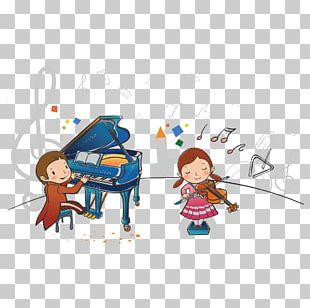 Piano Cartoon Music Child PNG