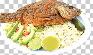 Pescado Frito Ceviche Fried Fish Dish PNG