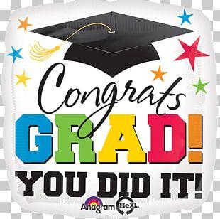 Graduation Ceremony Graduate University Party Mylar Balloon PNG