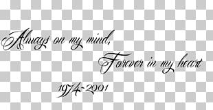 Always On My Mind; Forever In My Heart Tattoo Logo PNG