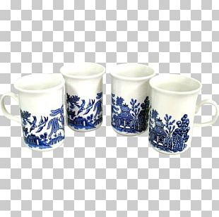 Coffee Cup Mug Ceramic Glass Blue And White Pottery PNG