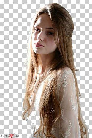 Layered Hair Long Hair Model Fashion PNG