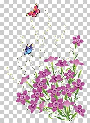 Floral Design Butterfly Flower PNG