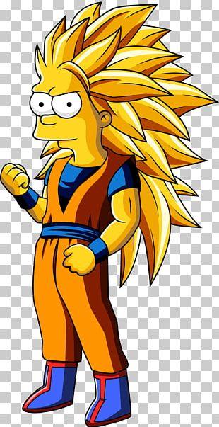 Bart Simpson Goku Homer Simpson Super Saiya Drawing PNG
