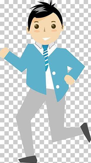 Cartoon Running Illustration PNG
